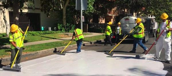 Los Ángeles Pinta Sus Calles De Blanco Para Hacer Bajar Los Termómetros