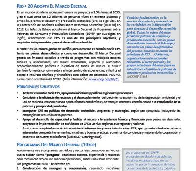 Marco Decenal De Programas Sobre Consumo Y Producción Sostenibles