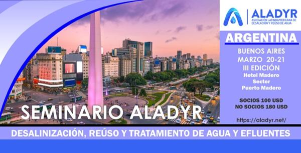 Semanario ALADYR Argentina 2019 Sobre Desalinización, Reúso Y Tratamiento De Efluentes